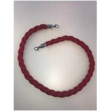Virvė mobiliam, virviniam atitvarui,raudona su sidabro sp.antgaliu.