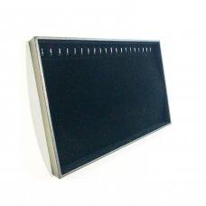 Papuošalų dėžutė 25 x 35 cm grandinėlėms.Horizontali.Juodas aksomas.