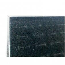 Papuošalų dėžutė 25 x 35 cm žiedams.Juodas aksomas.Atskira vieta kiekvienam žiedui