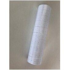 Lipnios etiketės vienos juostos markiratoriams(KEYDE MX5500,MC-A813) , 1-B-5000.Spalva-balta.