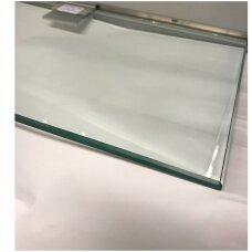 Grūdinto stiklo lentyna. Šlifuotas ir poliruotas kraštas. Ilgis 1m, plotis 200 mm, storis 8 mm. Prekė nesiunčiama - atsiėmimas iš sandėlio.