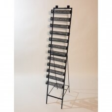 Metalinis 12 aukštų stovas apyrankėms ir  laikrodžiams. Nuimami aukštai