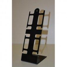 4 vietų  PLA-4-J stovas laikrodžiams ir apyrankėms. Juodas