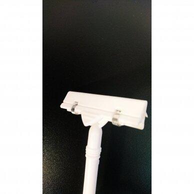 Kainų, nuolaidų etikečių laikiklis LAI-D-B,baltos spalvos plastikas. 2