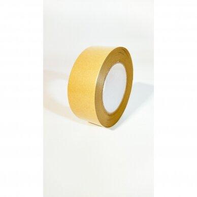 """Popierinė lipni klijavimo juosta 135mkr 48mm X 50m """"KRAFT"""""""