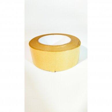 """Popierinė lipni klijavimo juosta 135mkr 48mm X 50m """"KRAFT"""" 2"""