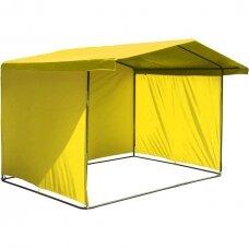 Lauko prekybos palapinės tentas(stogas ir trys sienos),geltona sp.,2 x 2 m.,Lenkija