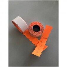 Lipnios rankinės etiketės prekių markiravimui,kainai,kitai informacijai, 2-OR, (26mmx15mm,oranžinė spalva,700vnt).
