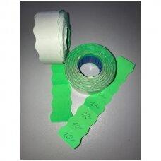 Lipnios rankinės etiketės prekių markiravimui, kainai, kitai informacijai, 2-ZA ,(26mmx15mm,žalia spalva,700vnt).