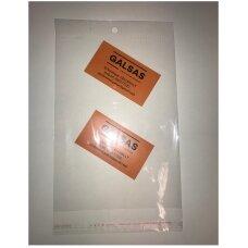 Užklijuojami maišeliai CPP 100 x 175 mm + 20 мм - su lipnia juostele ir skylute pakabinimui.