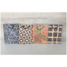 16 x 21 cm(h) Popieriniai pakavimo maišeliai su virvine rankena - dovanai, prekėms, maisto išsinešimui.