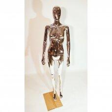 Manekenas moteriškas, MOT-Silver,pilno ūgio,be veido,dažytas sidabro spalva.Plastikas.