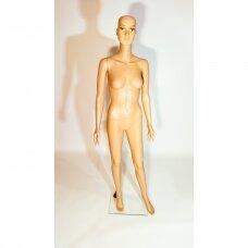Manekenas moteriškas XMA-07 - pilno ūgio,su veidu,kūno spalva. Plastikas.