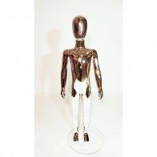 Manekenas vaikiškas VAI-SILVER-116 - pilno ūgio,blizgi sidabro spalva,aukštis 116 cm