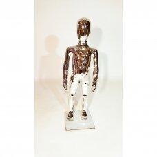 Manekenas vaikiškas VAI-SILVER-85 - pilno ūgio,blizgi sidabro spalva,aukštis 85 cm