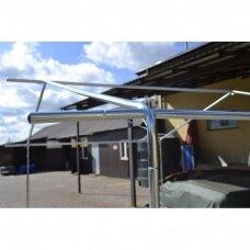 Metalinis cinkuotas karkasas lauko prekybos palapinei 3 x 4 m