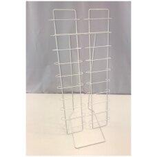 Metalinis, pastatomas 20 elementų 74-AKI-B stovas  akiniams, balta spalva