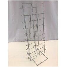 Metalinis pastatomas 20 elementų  74-AKI-P stovas  akiniams, sidabro spalva