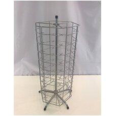 Metalinis sukamas 60 elementų 76-AKI-P stovas  akiniams, sidabro spalva
