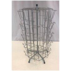 Metalinis sukamas stovas 53-ATV-P vokams,atvirukams,reklamai, sidabro spalva