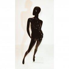 Moteriškas manekenas MAF08-J - pilno ūgio,dažytas juoda blizgi spalva.Plastikas.