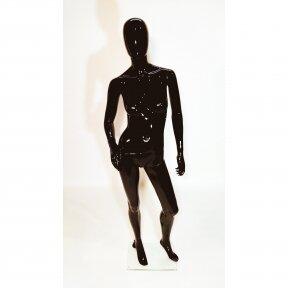 Женский манекен MAF05-J в полный рост, черный глянец. Пластик.