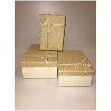Popierinė dvispalvė dviejų dalių dovanų pakavimo dėžutė 16 x 23 x 9,5(1 mod), 3 vnt komplektas