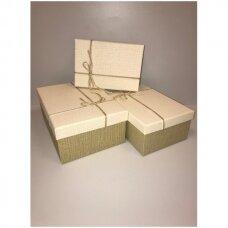 Popierinė dvispalvė dviejų dalių dovanų pakavimo dėžutė 16 x 23 x 9,5(2 mod), 3 vnt komplektas