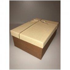 Popierinė dvispalvė dviejų dalių dovanų pakavimo dėžutė 16 x 23 x 9,5(3 mod), 3 vnt komplektas