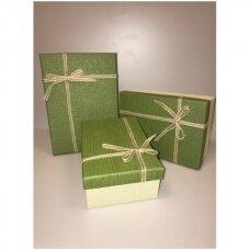 Popierinė dvispalvė dviejų dalių dovanų pakavimo dėžutė 16 x 23 x 9,5(5 mod), 3 vnt komplektas