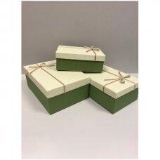 Popierinė dvispalvė dviejų dalių dovanų pakavimo dėžutė 16 x 23 x 9,5(6 mod), 3 vnt komplektas