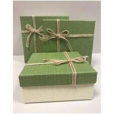 Popierinė dvispalvė dviejų dalių dovanų pakavimo dėžutė 18 x 18 x 9,5(5 mod), 3 vnt komplektas