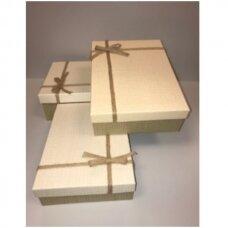 Popierinė dvispalvė dviejų dalių dovanų pakavimo dėžutė 21 x 29 x 9,5(2 mod), 3 vnt komplektas