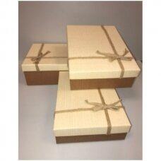 Popierinė dvispalvė dviejų dalių dovanų pakavimo dėžutė 21 x 29 x 9,5(3 mod), 3 vnt komplektas