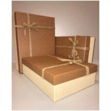 Popierinė dvispalvė dviejų dalių dovanų pakavimo dėžutė 21 x 29 x 9,5(4 mod), 3 vnt komplektas
