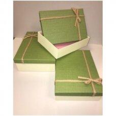 Popierinė dvispalvė dviejų dalių dovanų pakavimo dėžutė 21 x 29 x 9,5(5 mod), 3 vnt komplektas