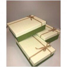 Popierinė dvispalvė dviejų dalių dovanų pakavimo dėžutė 21 x 29 x 9,5(6 mod), 3 vnt komplektas