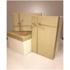 Popierinė dvispalvė dviejų dalių dovanų pakavimo dėžutė 22 x 33 x 15(1 mod), 3 vnt komplektas