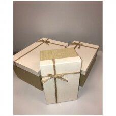 Popierinė dvispalvė dviejų dalių dovanų pakavimo dėžutė 22 x 33 x 15(2 mod), 3 vnt komplektas