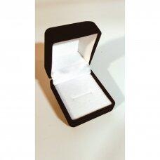 Aksomo dovanų pakavimo dėžutė juodos spalvos 5x4x4-V