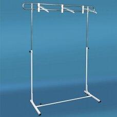 Pastatoma reguliuojamo aukščio 3-DRA-P kabykla drabužiams, sidabro spalva