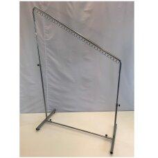 Pastatoma reguliuojamo aukščio 4-DRA-P kabykla drabužiams, sidabro spalva