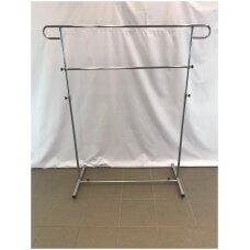 Pastatoma reguliuojamo aukščio 5-DRA-P kabykla drabužiams, sidabro spalva
