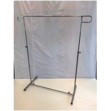 Pastatoma reguliuojamo aukščio 7-DRA-P kabykla drabužiams, sidabro spalva