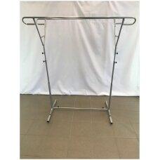 Pastatoma reguliuojamo aukščio 9-DRA-P kabykla drabužiams, sidabro spalva