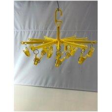 Plastikinė pakaba-karuselė KAR-D - smulkioms prekėms,skersmuo 50 cm,20 segtukų.