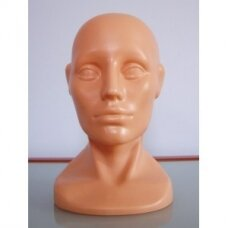 Manekeno galva kepurėms, beisbolo kepurėms, perukams, ausinėms. Modelis GAL-PLA-Z(kūno spalvos)