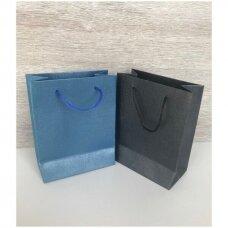 11.5 x 14.5 cm(h) Popieriniai pakavimo maišeliai su virvine rankenėle - dovanai, prekėms, maisto išsinešimui.