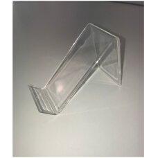 Skaidraus plastiko Z-formos stovas GAL-Z - galanterijai,avalynėi,smulkioms prekėms.