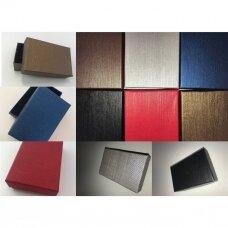 12 x 16 x 3 cm(h) Spalvota popierinė dviejų dalių dovanų dėžutė papuošalams.7 GALIMOS SPALVOS. Pakuotė 6 vnt
